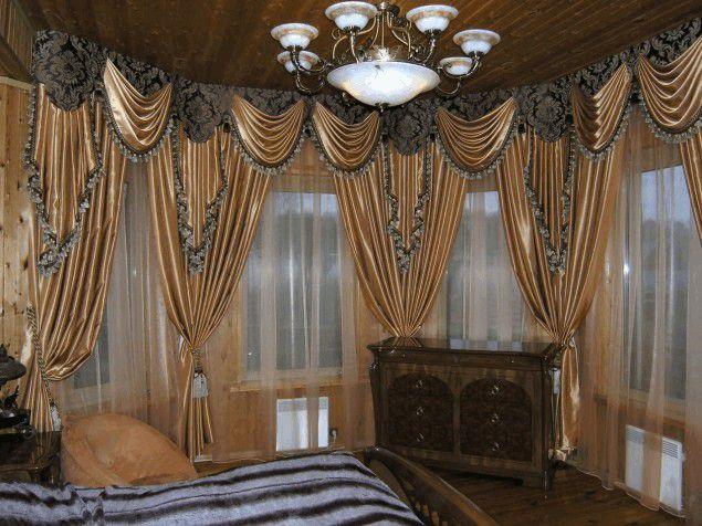 Насколько сложно сшить шторы с ламбрекенами своими руками