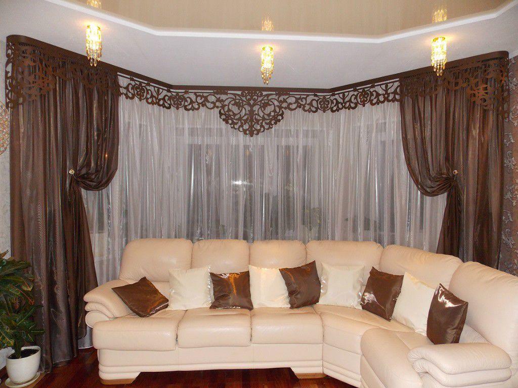 Критерии выбора красивых и современных штор для зала