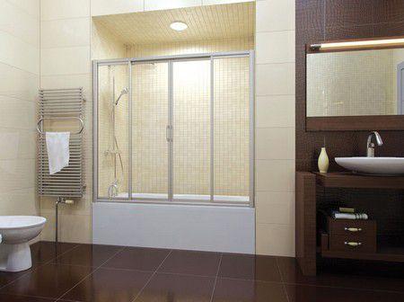 Раздвижные пластиковые шторы для ванной: преимущества выбора