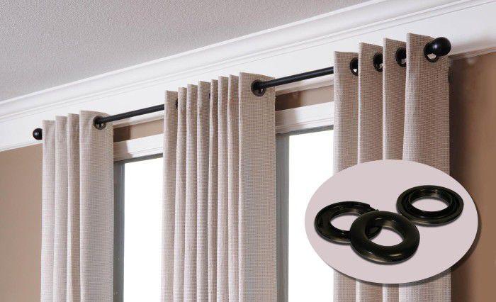 Необычные вещи в интерьере: люверсы на шторы в комнату своими руками