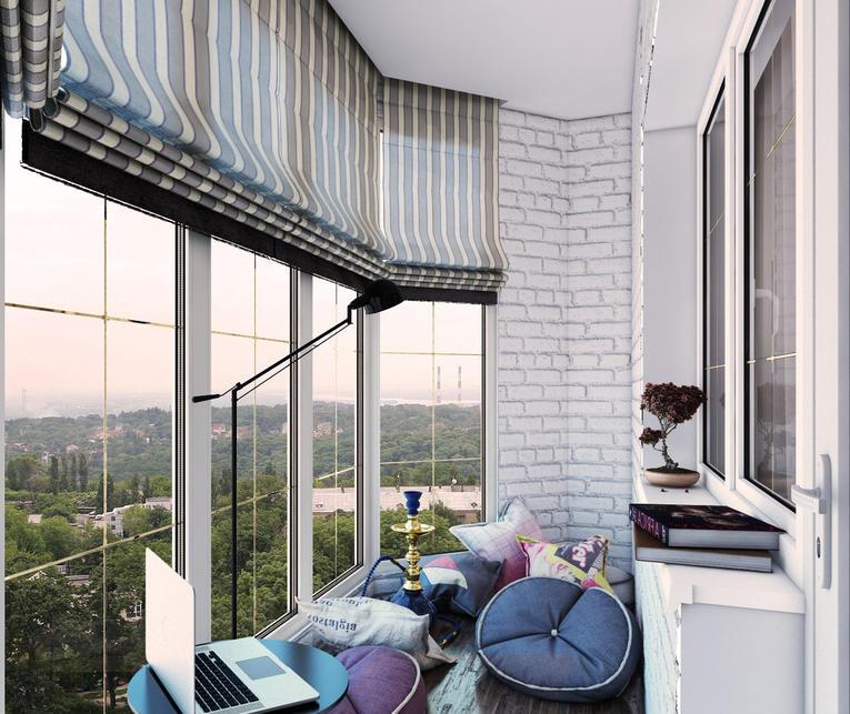 Выбираем римские шторы для балкона и лоджии