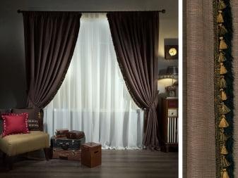 Коричневые шторы