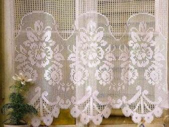 Вязаные шторы в интерьере